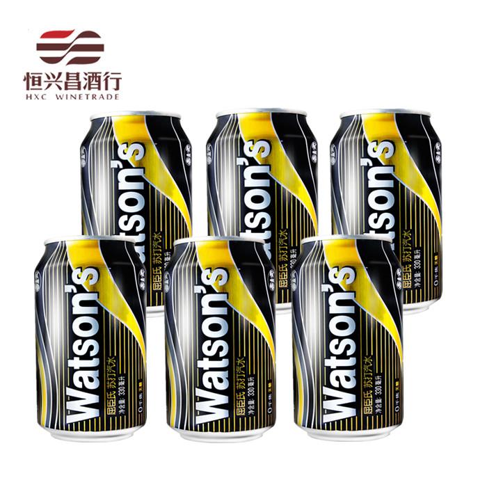 6听 屈臣氏苏打水 Watsons 无糖苏打汽水330ml调酒冲调饮料饮用水