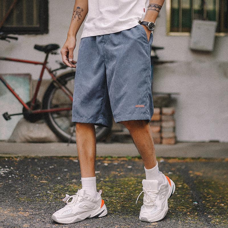(用88元券)兔先森2019新款男士纯色沙滩裤短裤