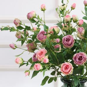 仿真玫瑰花客厅室内摆设落地假花