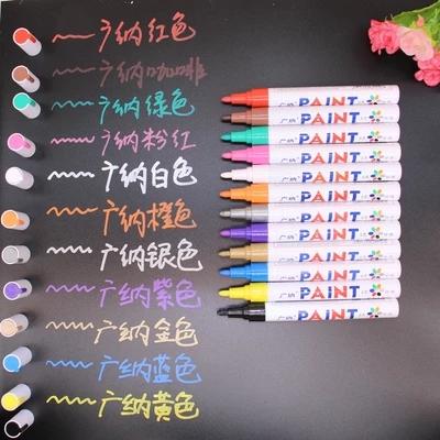 Обувь одежда DIY альбомы специальный цвет граффити карандаш водонепроницаемый не исчезают шина краски карандаш белый пометка карандаш