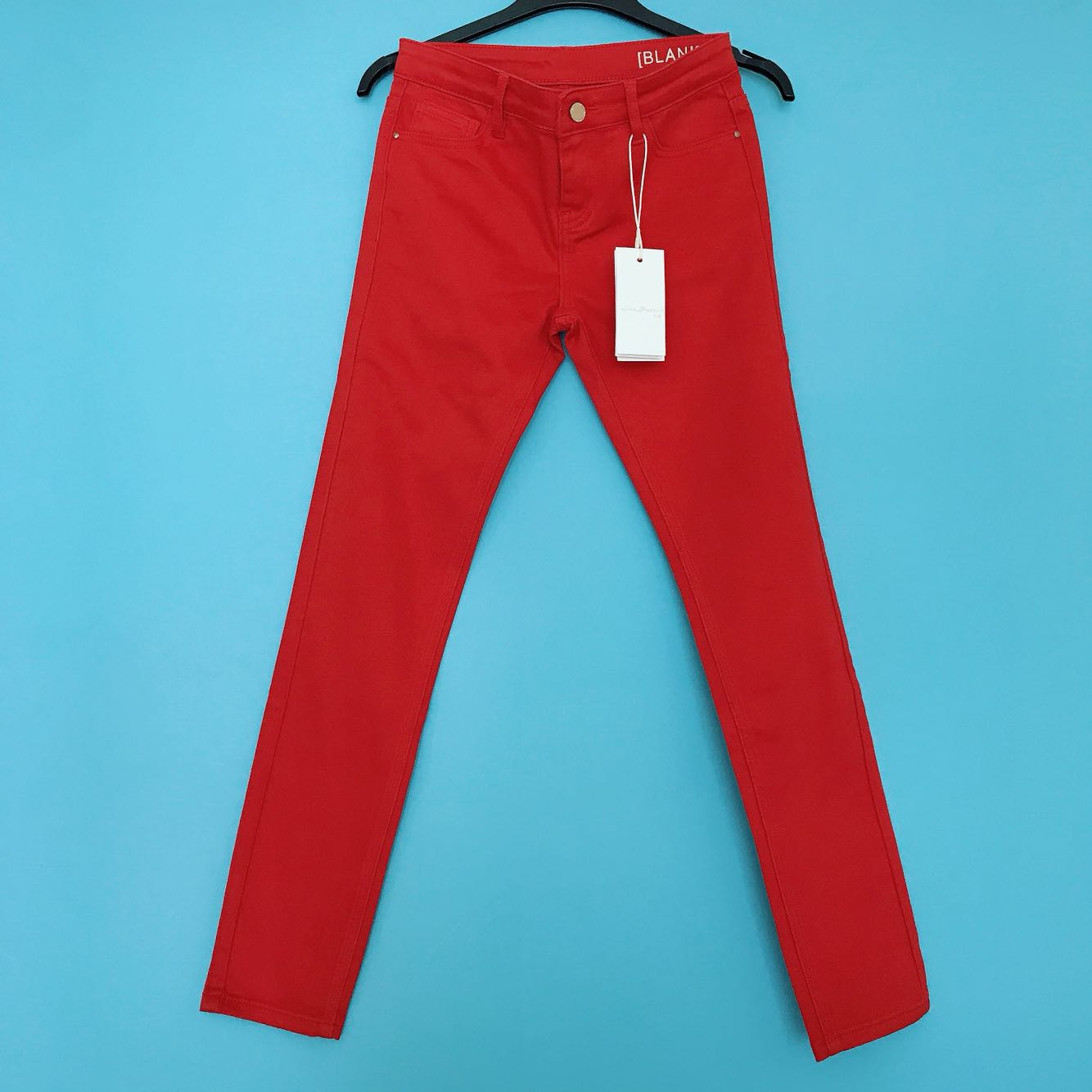 S-fan womens casual pants low waist red cotton slim legged pants spring and autumn new fashion red pants