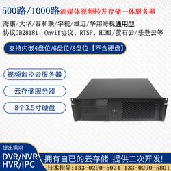 1000路流媒体转发监控视频一体存储服务器GB28181海康大华服务器