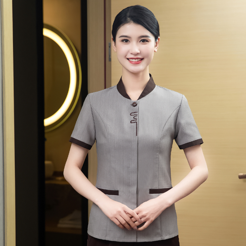 Summer new hotel room cleaner uniform airport supermarket cleaner health care worker