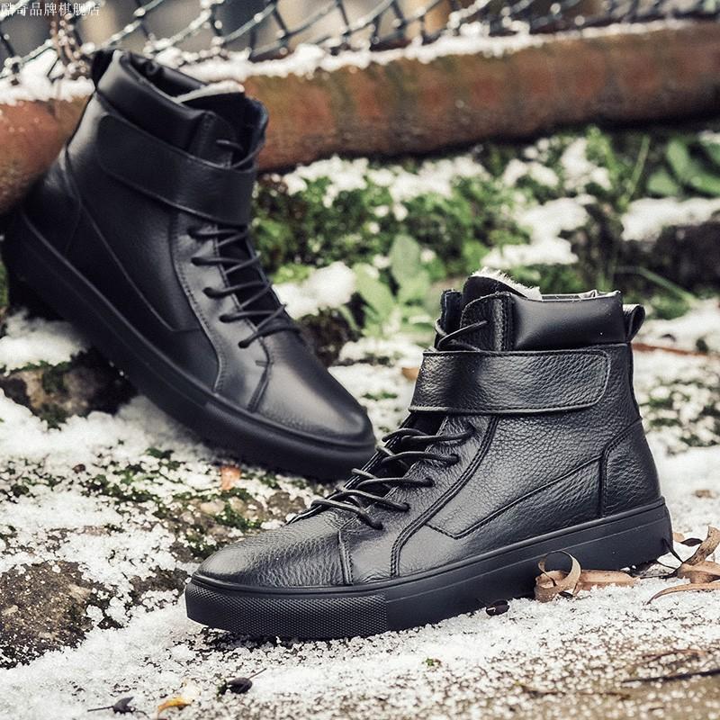 热风旗冬季折800官网脚王真皮韩版鞋宝马板鞋f2英伦马丁靴男鞋潮
