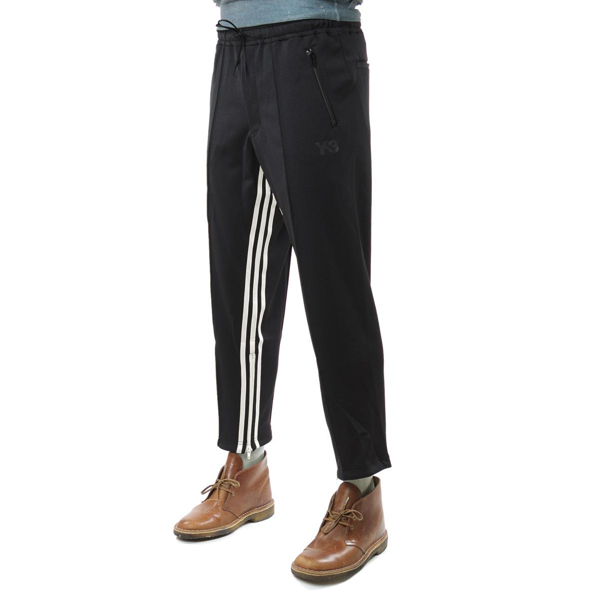 叁仟良品正品 Y-3 Y3 条纹拼接男士拉链运动休闲裤九分裤 FJ0392