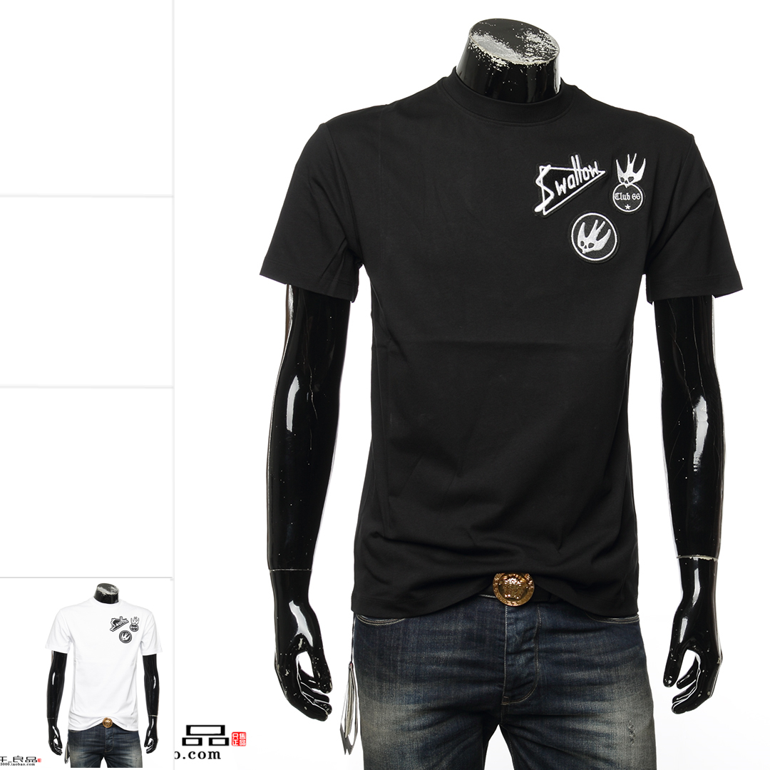 MCQ ALEXANDER MCQUEEN 麦昆 男士休闲短袖圆领T恤 291571 RKT06