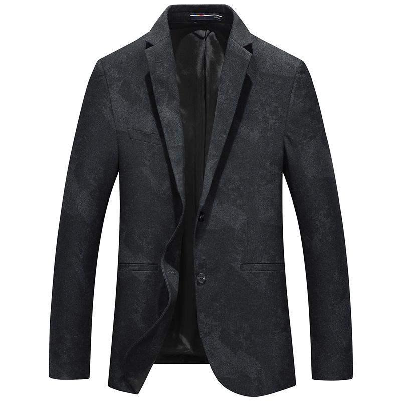 High grade brand fat trendy fat plus plus size mens casual suit spring and autumn slim coat large high elasticity