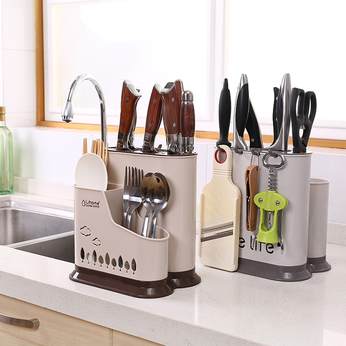 10-10新券沥水式菜刀架厨房创意餐具家用刀座