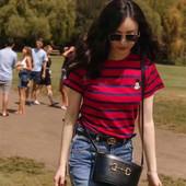 正确版CΚBURRYΚEAD米奇T恤女短袖2020倪妮同款鼠年经典条纹