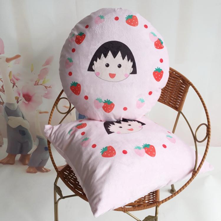 超柔水晶绒抱き枕カバーちびまる子ちゃん漫画少女心汽车室ソファクッション