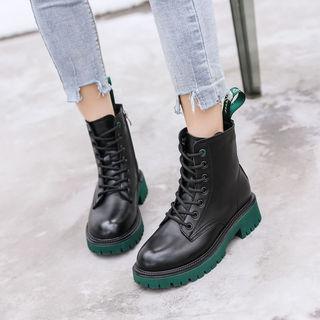 加绒真皮马丁靴女英伦风爆款短靴厚底2021年新款秋冬女鞋圆头靴子