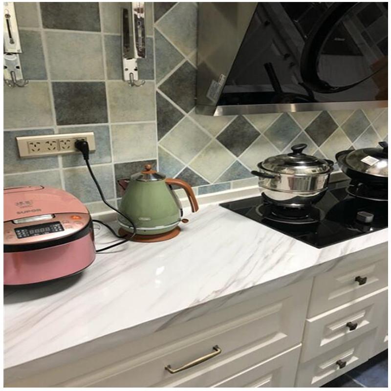 23.80元包邮加倍防油防水 厨房贴纸柜灶台用自粘灶台面瓷砖耐高温橱柜贴壁纸