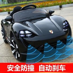 防撞兒童電動玩具小汽車四輪可坐人寶寶遙控充電男女小孩子一歲-6