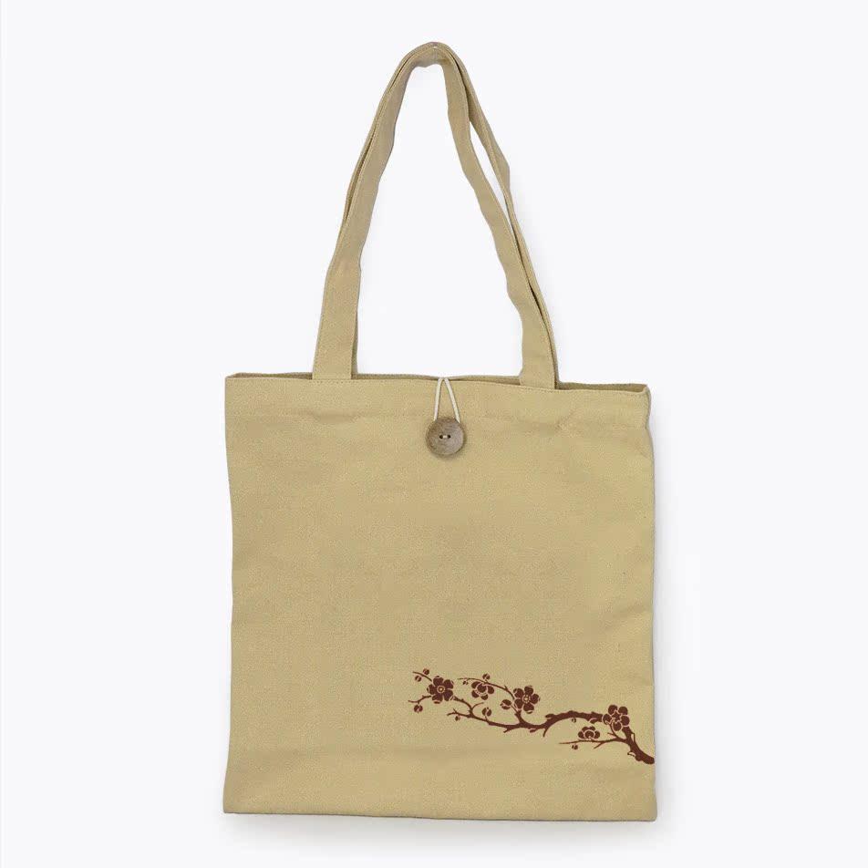 环保购物手拎袋子厚实耐用文艺帆布实用袋手提袋收纳袋单肩女包