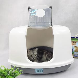 比利时Savic赛维克全封闭肥猫厕所三角形猫砂盆可放角落全国
