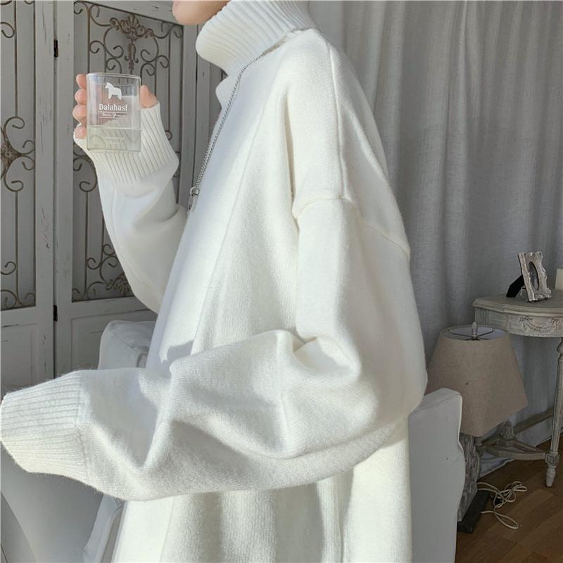 旋律风车ins毛衣男加厚款韩版秋冬季针织衫宽松慵懒高领线衣潮流