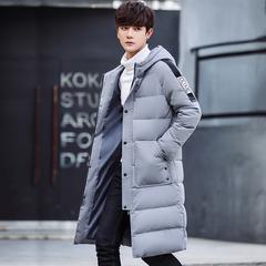 冬季羽绒服男韩版中长款青年2017新款潮流连帽保暖外套 H29-P295