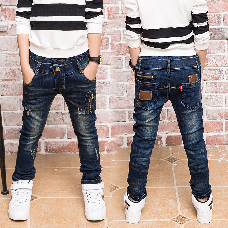 Childrens wear, boys jeans, spring and autumn wear, 2021 new pants, middle school childrens autumn pants, boys pants, childrens pants