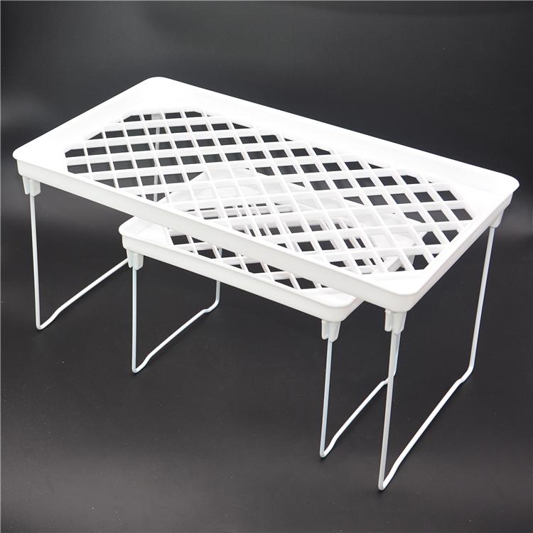 12.90元包邮包邮长方可折叠收纳棚 厨房置物架多用架 收纳架可叠放层架整理棚