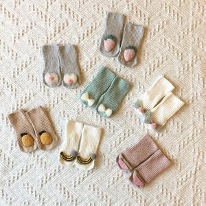 婴儿卡通凹造型可爱新生儿袜子薄款纯棉透气春秋季孩女童宝宝儿童