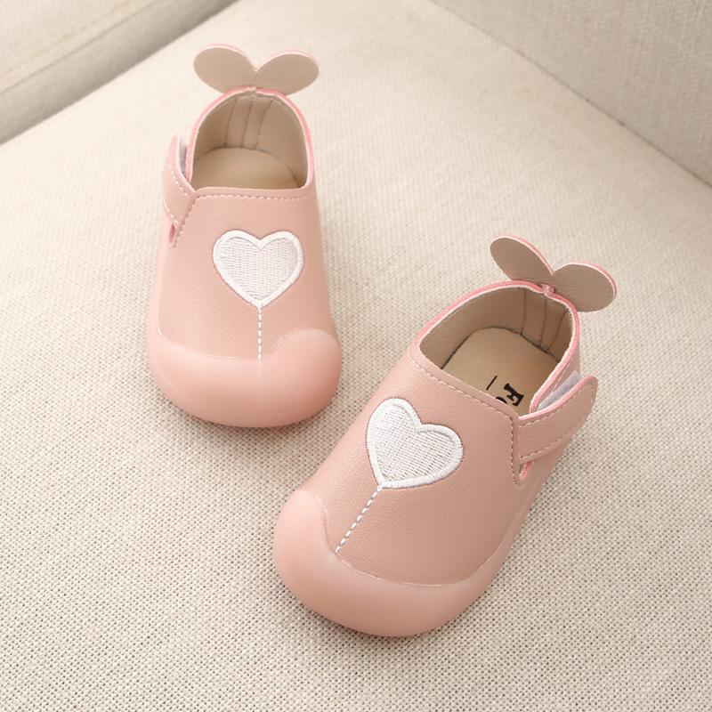 新款秋冬女宝宝鞋子0-2岁1婴儿单鞋软底防踢小公主学步鞋6-18个月
