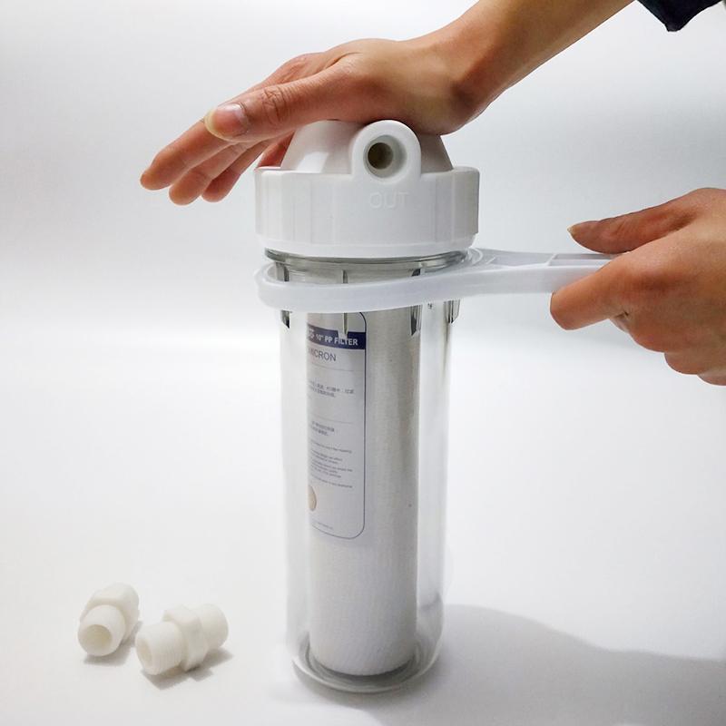 单级前置过滤器家用净水器自来水10寸pp棉滤芯一级前置滤瓶过滤器(用34元券)