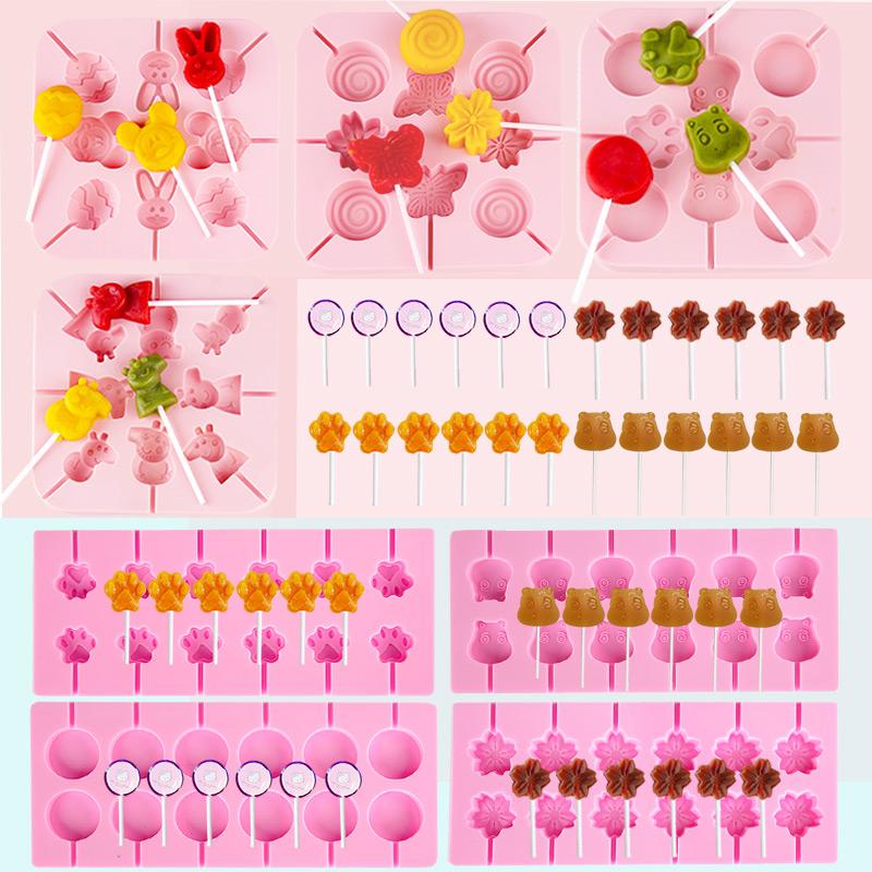 棒棒糖模具 自制家用手工卡通多款山楂小猪佩琪佩奇小熊diy材料小