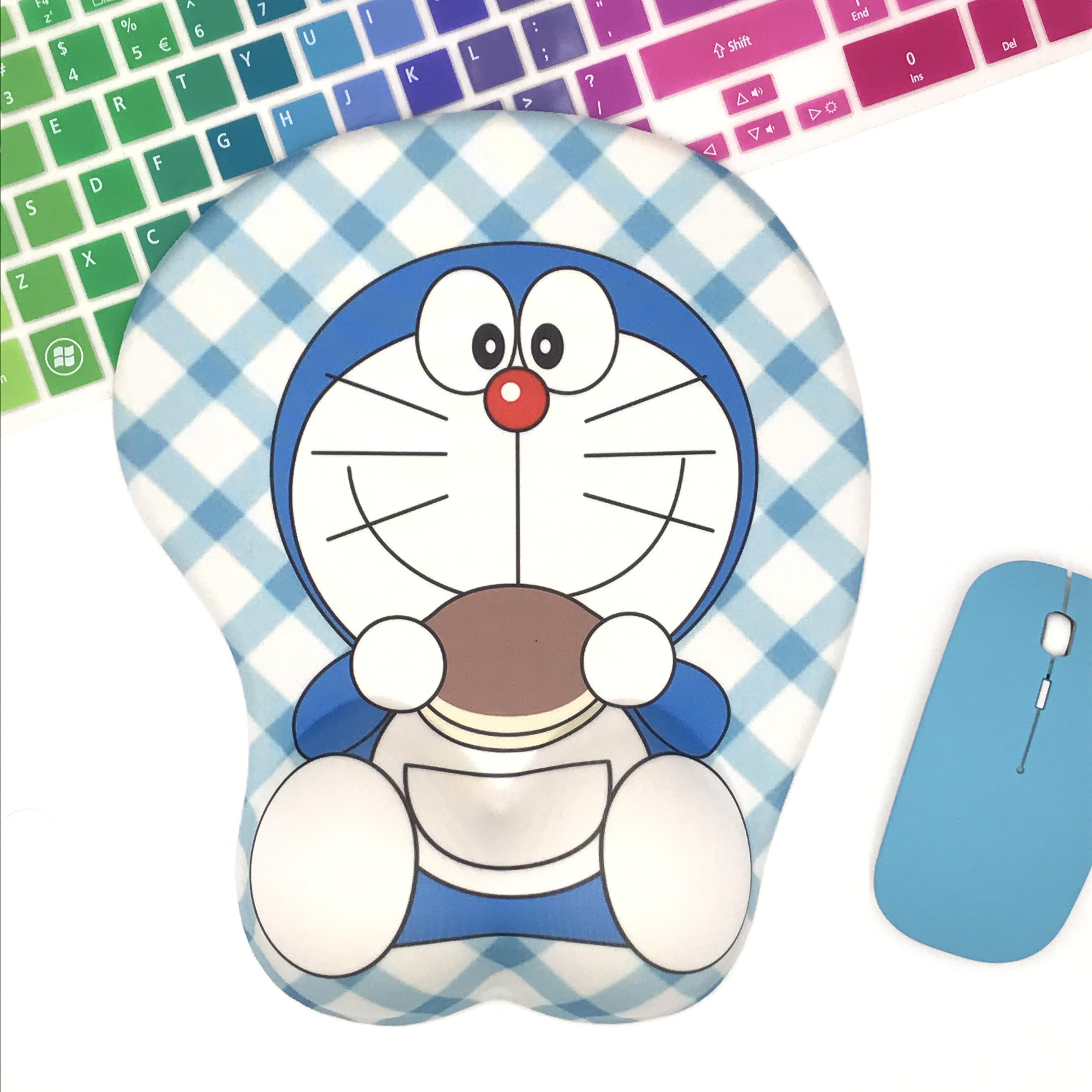 萌物创意硅胶哆啦a梦可爱鼠标垫有赠品