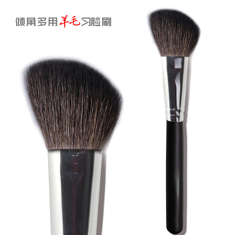 TTY long rod black bevel wool, body repair brush, blush brush, inclination, animal hair, single dressing tool, uniform face brush.