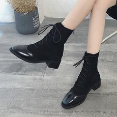 2018秋冬新款中筒短靴女靴子,货号10C