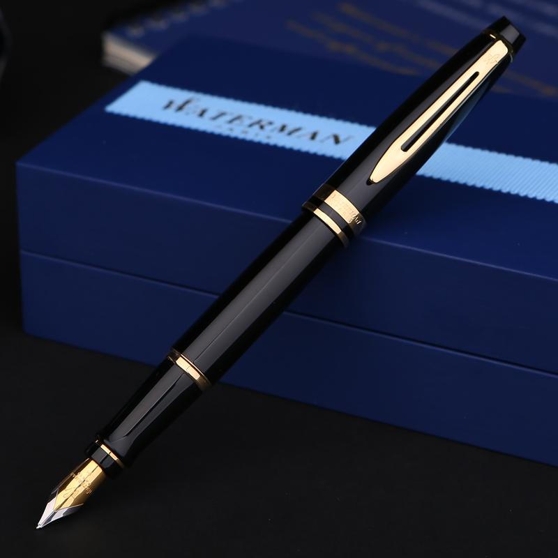 《名笔城》WATERMAN威迪文新权威23k镀金笔男士商务签名水人钢笔