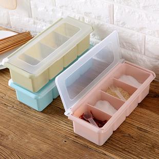 厨房组合调味盒调料罐塑料盐罐调味收纳盒套装佐料盒调料盒调味罐图片