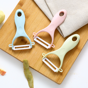 陶瓷水果削皮器厨房多功能削皮刀家用削苹果神器刮皮刀土豆刨刀图片