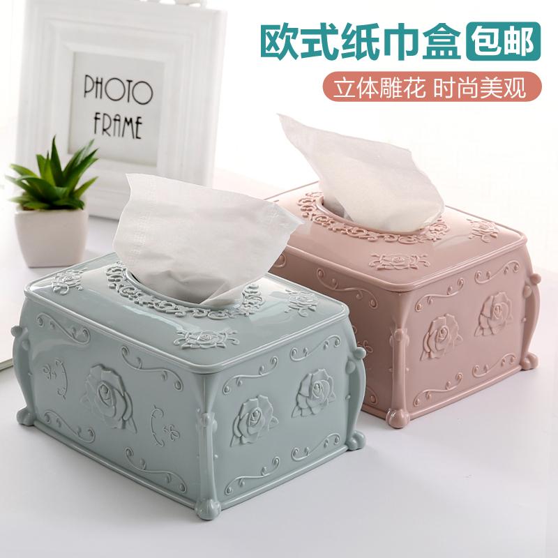 Мода резьба пластик ткань творческий гостиная насосные коробка еда полотенце кассета домой прямоугольник бумажные полотенца в коробку
