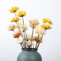 手工团扇材料包古风材料花艺亲子母亲节活动沙龙永生花DIY干花