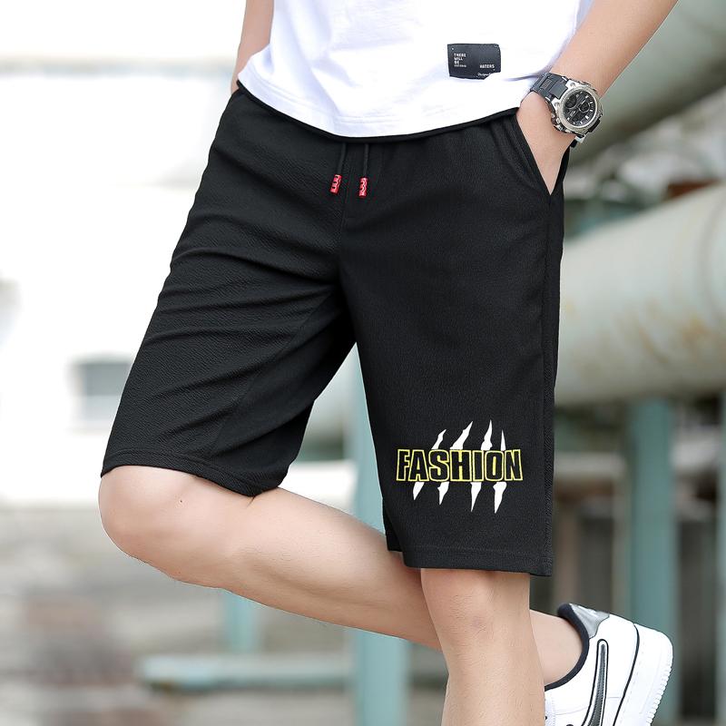 夏季薄款运动短裤男夏天五分裤速干5分沙滩裤休闲裤宽松弹力7分裤
