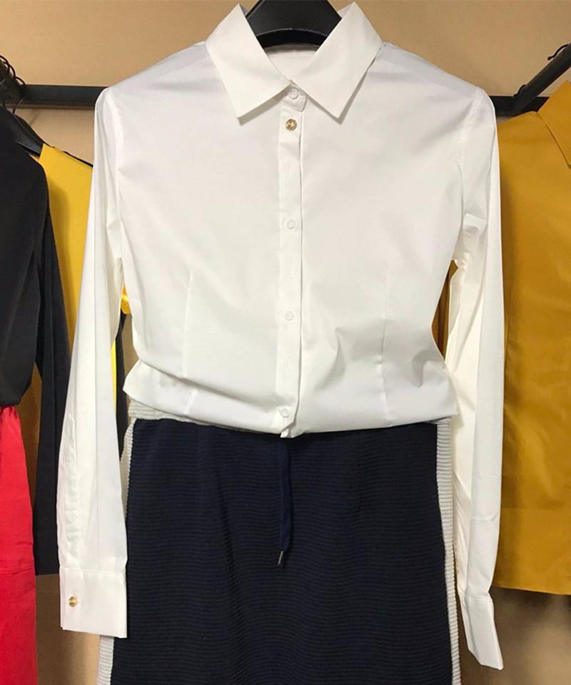 新颖哥弟特2018秋装新款职业女装正品国内代购修身显瘦长袖衬衫女
