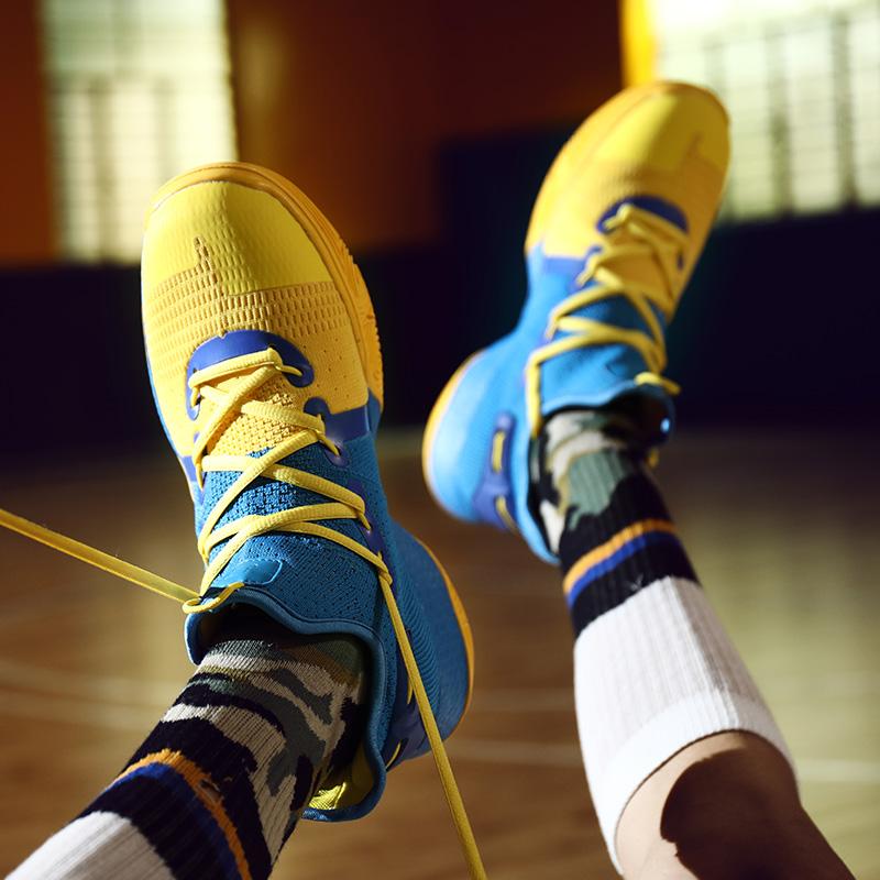 欧文4篮球鞋男低帮学生运动鞋库里6代儿童球鞋5耐磨青少年战靴女7