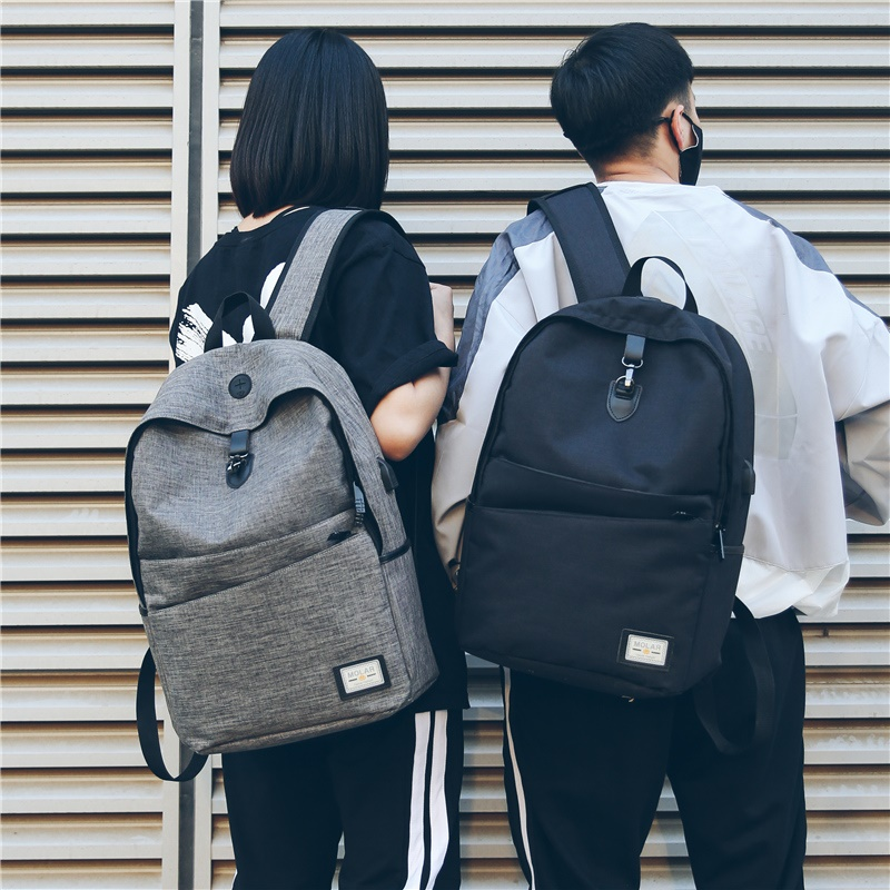 Schoolbag mens Korean version simple fashion trend high school students large capacity backpack college students Leisure Travel Backpack