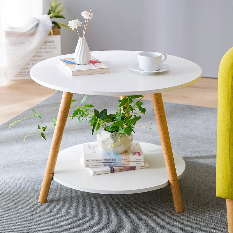 北欧茶几 简约茶桌 客厅小茶几实木腿小户型简易小桌子多功能茶台