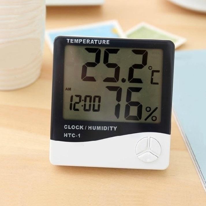 家用电子气温计表干湿温度湿度计室内寒暑表养殖车间气温表温度计