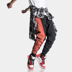 (模特图)2色复古刺绣拼色潮流工装休闲裤K-6849/F95