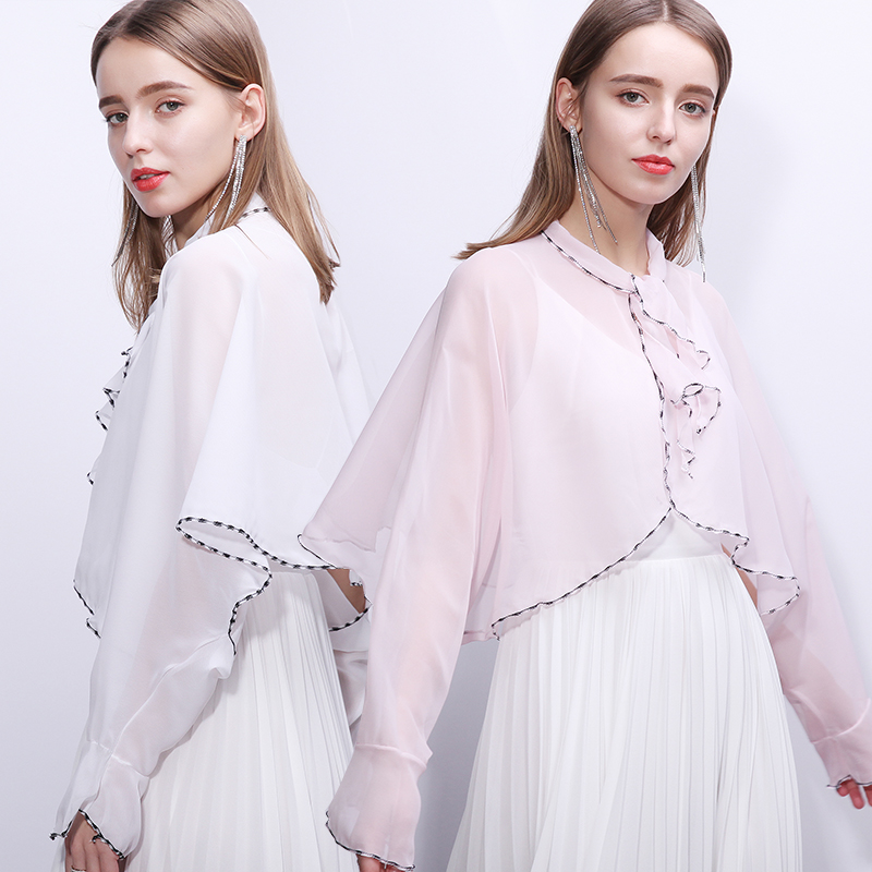 上海故事夏天防晒衣2020新款春款百搭夏季披肩洋气时尚斗篷女薄款