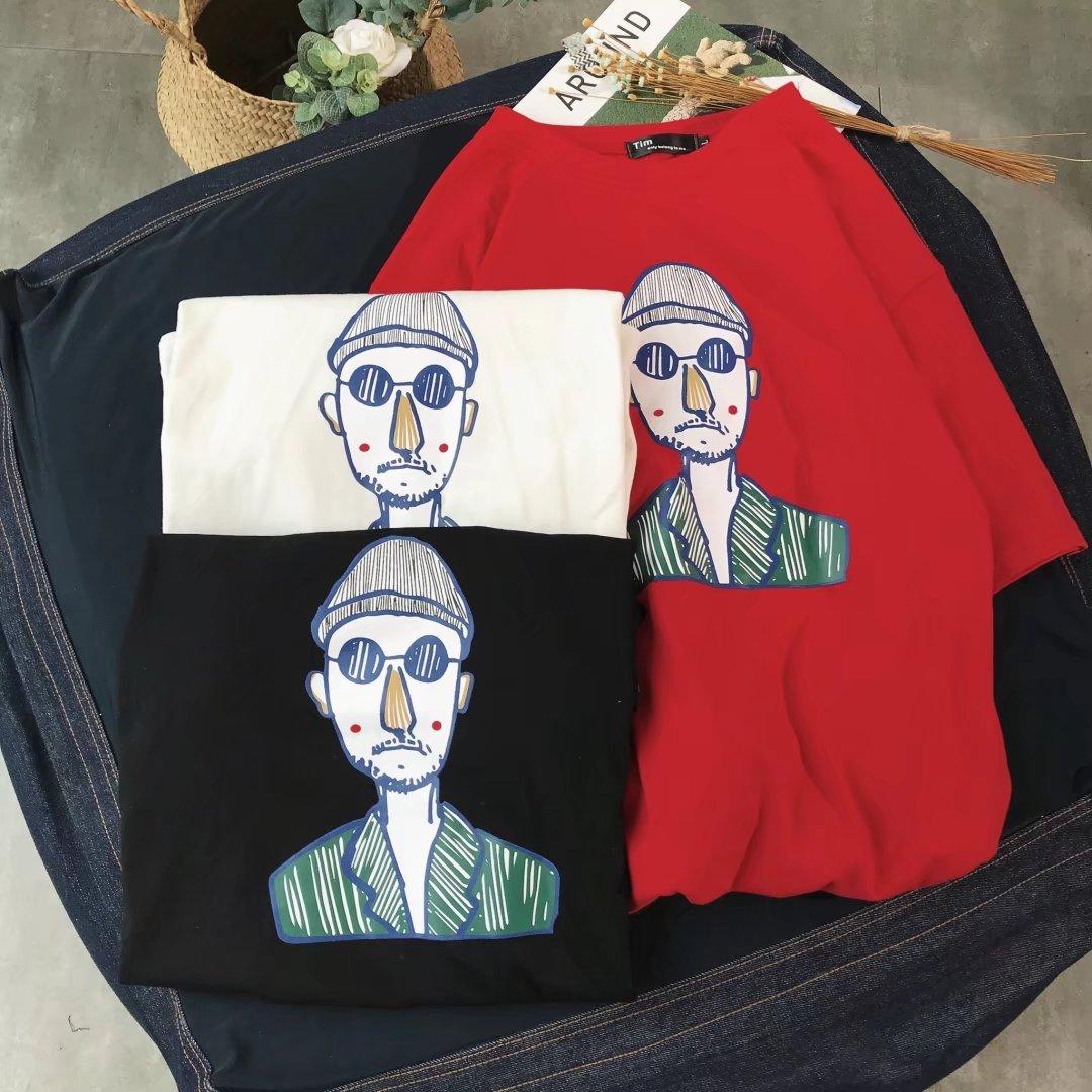 情侣个性9.9清仓包邮九块九男女装圆领韩版T恤短袖9块特价10元十