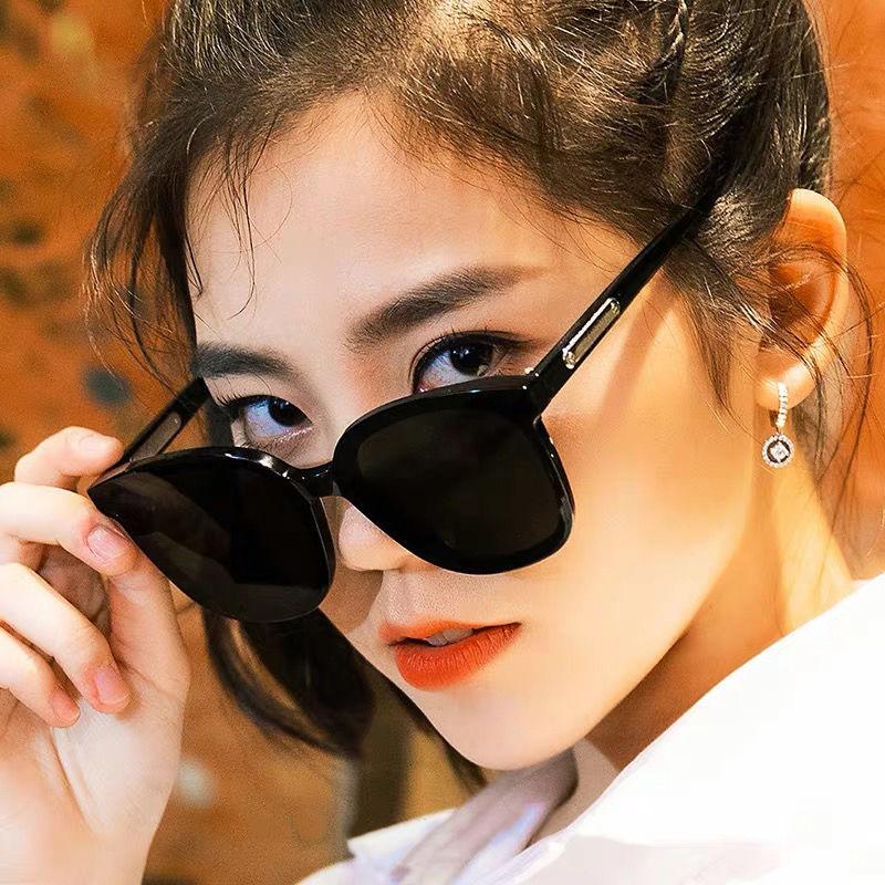 2021新款墨镜男明星网红款眼镜时尚潮圆脸大框防紫外线女士太阳镜