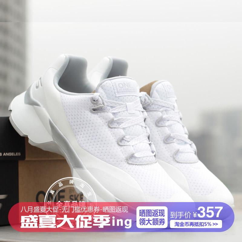 Skechers斯凯奇18年新款女鞋休闲针织网鞋系带轻便透气跑鞋15490