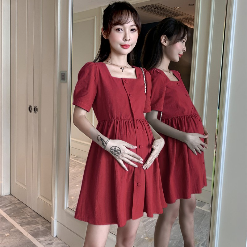 孕妇装夏装怀孕期宽松显瘦娃娃衫时尚休闲潮妈上衣夏季孕妇连衣裙