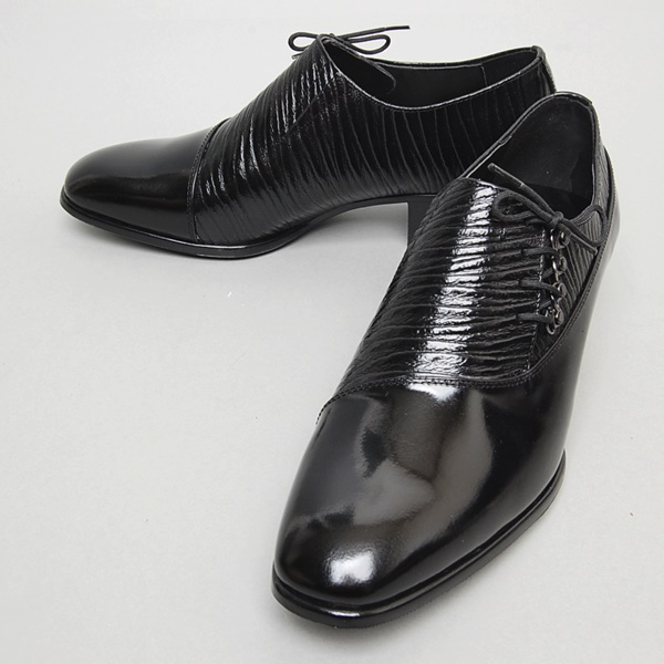 209 mens cattle leather shoes 5cm heel made in Korea black brown 240-280mm