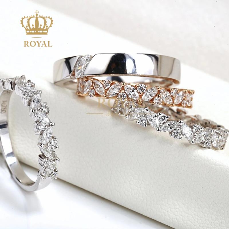 ROYAL珠宝首饰钻石戒指月桂对戒简约大方灵动自如送女友订婚礼物