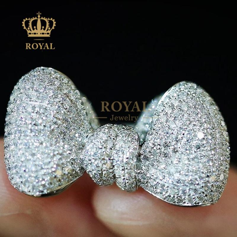 ROYALジュエリー小光奢2.895 CTダイヤモンドリボンの指輪は彼女に妻の祝日プレゼントをあげます。